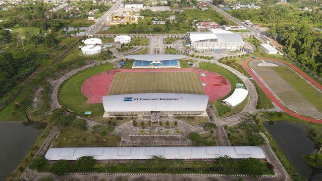 PT Freeport Indonesia mendukung penyelenggaraan Pekan Olahraga Nasional XX di Papua pada 2-15 Oktober mendatang melalui pembangunan kompleks olahraga di Mimika.