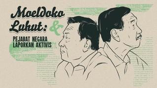 INFOGRAFIS: Kasus Moeldoko & Luhut Laporkan Aktivis Sipil