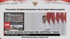 VIDEO: Jokowi Bagikan Ratusan Ribu Sertifikat Tanah