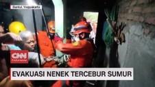 VIDEO: Evakuasi Nenek Tercebur Sumur