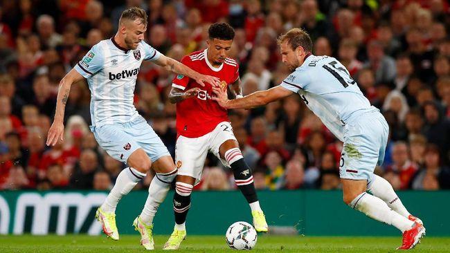 Manchester United kalah 0-1 dari West Ham United dalam laga babak ketiga Piala Liga di Stadion Old Trafford, Kamis (23/9) dini hari waktu Indonesia.