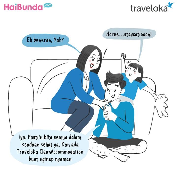 Komik Traveloka Refreshing Bebas Cemas Bun