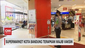 VIDEO: Supermarket Kota Bandung Terapkan Wajib Vaksin