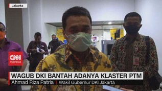 VIDEO: Wagub DKI Bantah Adanya Klaster PTM