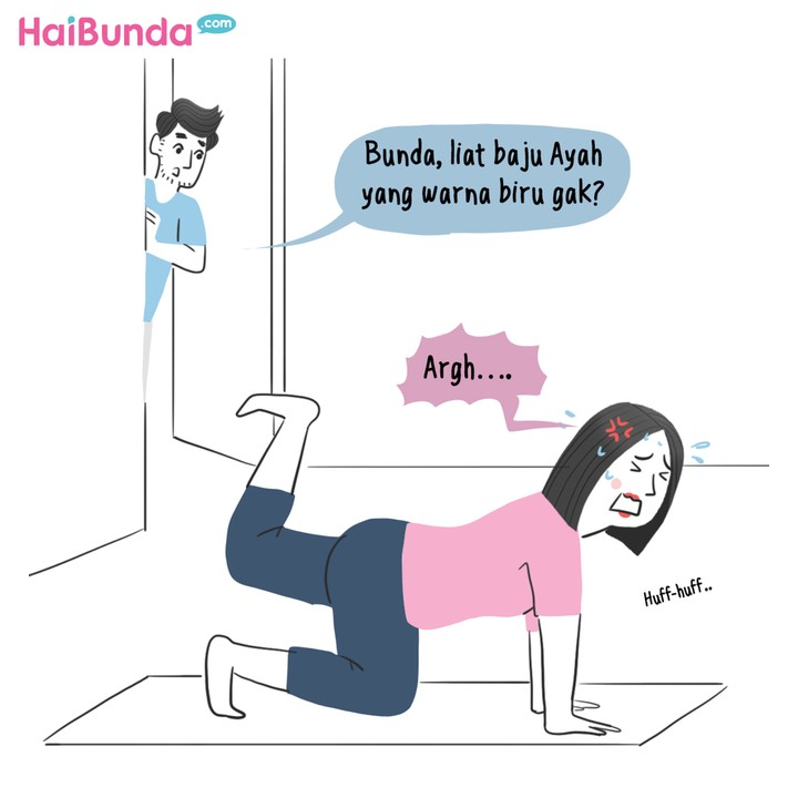 komik olahraga di rumah