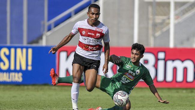 Madura United berhasil kalahkan PS Sleman (PSS) dengan skor 1-0 pada laga lanjutan Liga 1 2021, Sabtu (25/9).