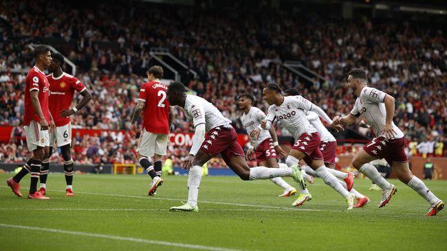 Manchester United menelan kekalahan 0-1 lawan Aston Villa pada pertandingan lanjutan Liga Inggris 2021/2022 di Stadion Old Trafford, Sabtu (25/9) malam.