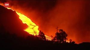 VIDEO: Letusan dan Aliran Lava di La Palma Semakin Berbahaya