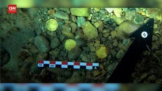 VIDEO: Puluhan Koin Romawi Kuno Ditemukan di Dasar Laut
