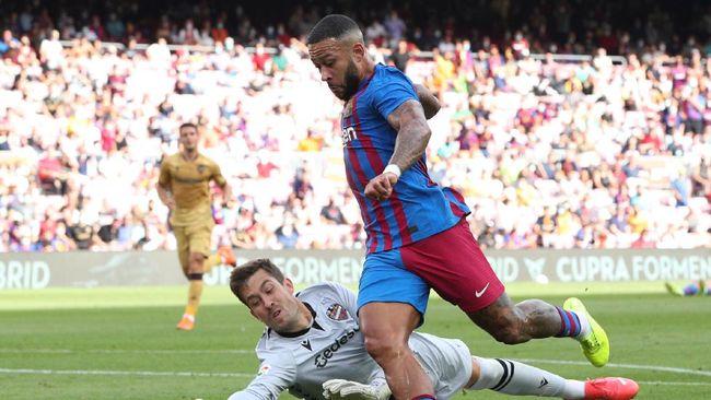 Klasemen Liga Spanyol mengalami perubahan setelah Barcelona mengalahkan Levante 3-0 pada pekan ketujuh.