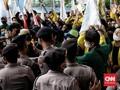 Demo di KPK Ricuh, Mahasiswa dan Aparat Saling Dorong