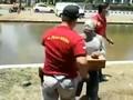 VIDEO: Detik-detik Penangkapan Manusia Silver Pensiunan Polri