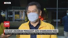 VIDEO: Lusa, Golkar Umumkan Pengganti Azis Syamsuddin