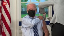VIDEO: Presiden Biden Pamer Terima Vaksin Booster Covid-19