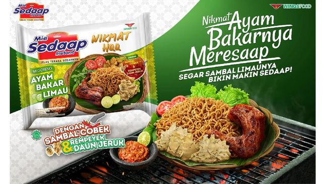 Produsen mi instan terbesar dari Wings Food, Mie Sedaap menghadirkan inovasi baru dalam kategori Nikmat HQQ Series, yakni Mie Sedaap Ayam Bakar Limau.