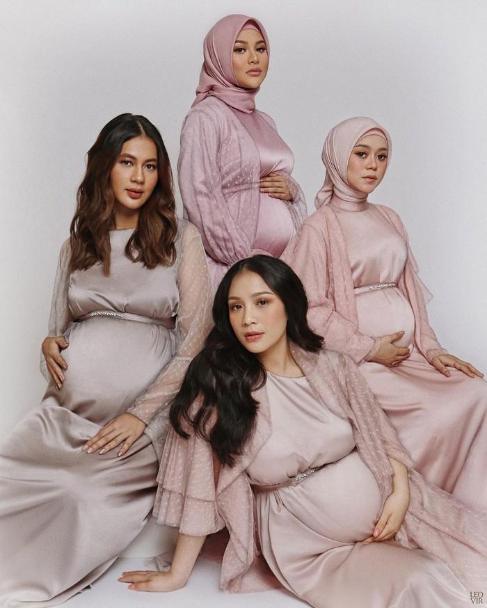 Beberapa selebritas Indonesia ternama sedang berbahagia karena akan menyambut kehadiran buah hati mereka. Mereka adalah Nagita Slavina, Paula Verhoeven, Aurel Hermansyah, dan Lesti Kejora. (Foto: Instagram.com/raffinagita1717)
