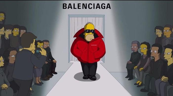 Gemas! Karakter Kartun The Simpsons Jadi Model di Fashion Show Balenciaga