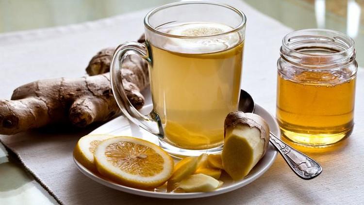 racikan teh hijau yang menyehatkan, bisa ditambahkan jahe, lemon, madu, hingga daun mint.