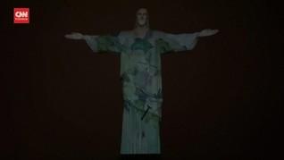 VIDEO: Patung Kristus Penebus Brazil Ikut Aksi Protes Sampah