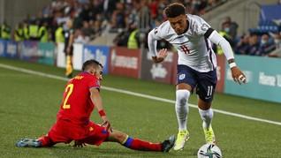 FOTO: Pesta Lima Gol Inggris ke Gawang Andorra