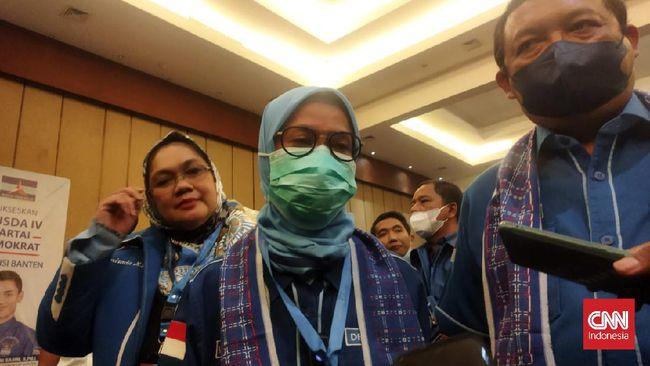 Iti Octavia Jayabaya kembali terpilih memimpin DPD Demokrat Banten setelah pesaingnya dalam Musda ke-4, Ketua DPC Pandeglang mundur dan memilih mendukungnya.