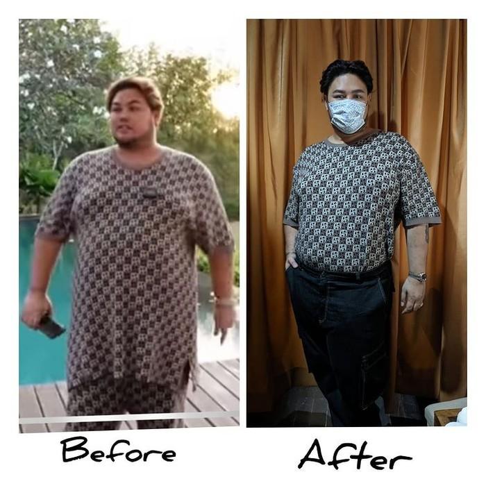 Ivan Gunawan membagikan transformasi tubuhnya selama menjalani diet selama beberapa bulan. Diungkapkan Ivan Gunawan kalau ia telah berhasil menurunkan berat badan hingga 25 kilogram. (Foto: instagram @ivan_gunawan)