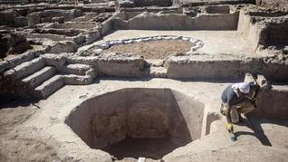 FOTO: Sisa-sisa Pabrik Wine Tua 1.500 Tahun di Israel