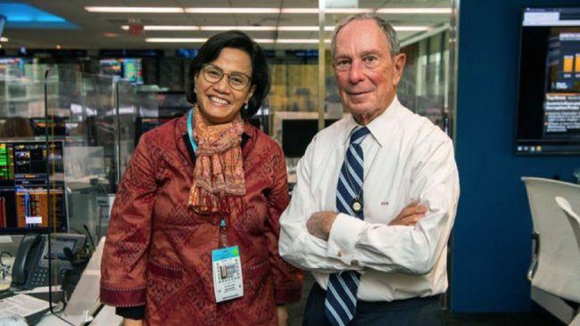 Menkeu Sri Mulyani bertemu dengan taipan media Michael Bloomberg saat berkunjung ke New York, AS pada pekan lalu.