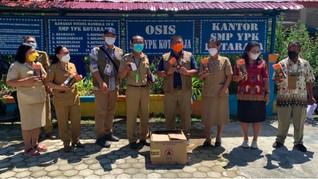 Satgas Prokes PON Salurkan 7 Ribu Masker ke Jayapura