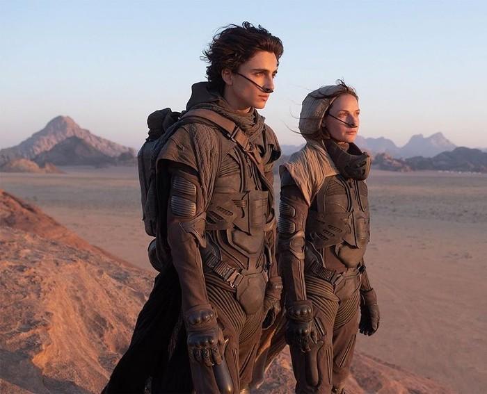 Selain Wonka, Timothee Chalamet juga tampil di film genre sci-fi berjudul Dune bersama Zendaya yang akan segera rilis tahun ini. Foto: Instagram Dune movie