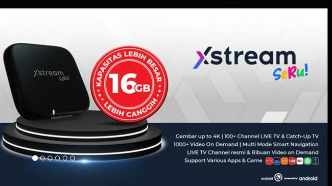 Dengan kapasitas 16GB, pelanggan dapat mengunduh lebih banyak aplikasi Android TV sehingga pengalaman menggunakan Transvision Xstream Seru! jadi lebih optimal.