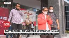 VIDEO: Partai Buruh Mendaftar ke Kemenkumham