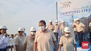Chairul Tanjung Topping Off Transpark Juanda Bekasi