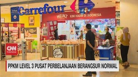 VIDEO: PPKM Level 3 Pusat Perbelanjaan Berangsur Normal