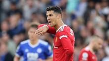 FOTO: Masam Wajah Ronaldo Saat Man Utd Tumbang
