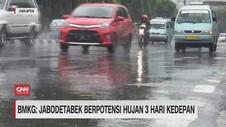 VIDEO: BMKG: Jabodetabek Berpotensi Hujan 3 Hari ke Depan