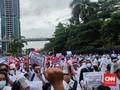 Calon Pekerja Migran Demo Kemnaker, Jalan Gatsu Macet Parah