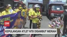 VIDEO: Kepulangan Atlet NTB Disambut Meriah