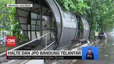 VIDEO: Halte dan JPO Bandung Telantar