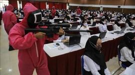 Tes CPNS Kemenkumham Jatim Diawasi Pink Soldier Squid Game