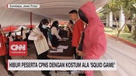 VIDEO: Hibur Peserta CPNS Dengan Kostum Ala 'Squid Game'