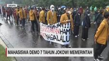 VIDEO: Mahasiswa Demo 7 Tahun Jokowi Memerintah