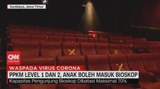 VIDEO: PPKM Level 1 & 2, Anak Boleh Masuk Bioskop