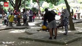 VIDEO: PPKM level 2, Taman Kota Denpasar diserbu Anak-Anak