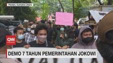VIDEO: Demo Mahasiswa Terkait 7 Tahun Pemerintahan Jokowi