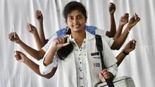 FOTO: Selebrasi India Rayakan Pemberian 1 Miliar Dosis Vaksin