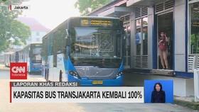 VIDEO: Kapasitas Bus Transjakarta Kembali 100%