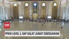 VIDEO: PPKM Level 1, Saf Salat Jumat Disesuaikan