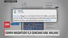 VIDEO: Gempa Magnitudo 5,3 Guncang Kab Malang