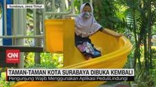 VIDEO: Taman-Taman Kota Surabaya Dibuka Kembali